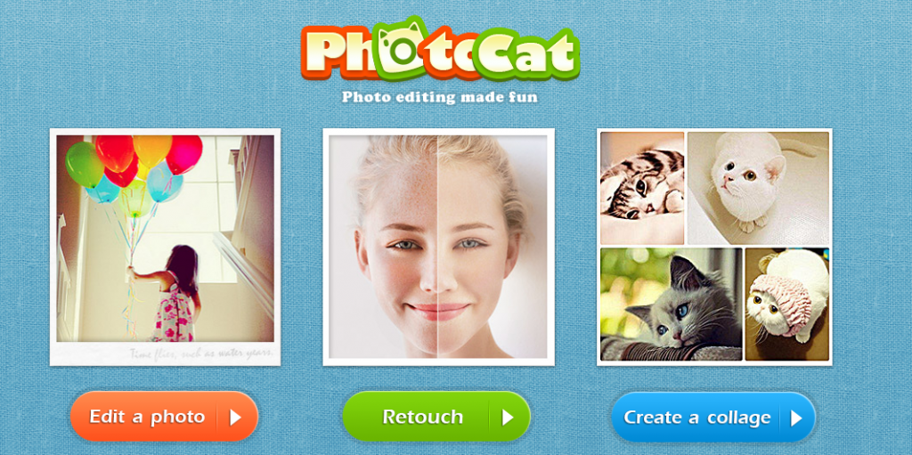 Editar fotos online y crear collage con PhotoCat